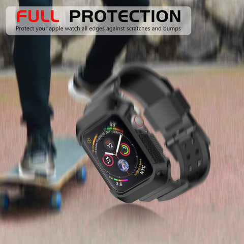 Shop Australia stock FLEXII GRAVITY Rugged Protective Case With Strap Band For Apple Watch Series 5/4 (40mm) - Rose Pink/Black with free shipping online. Shop FlexiiGravity collections with afterpay