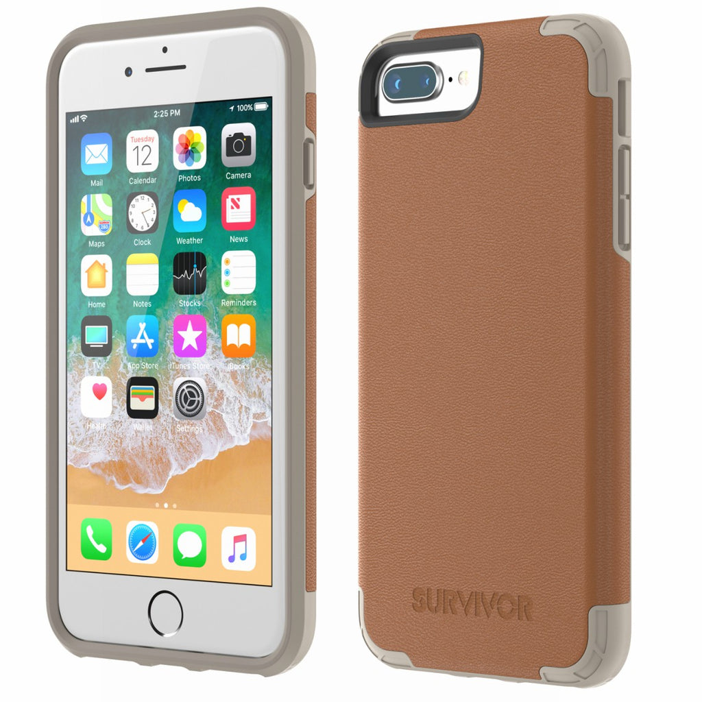 superior quality 2ddc9 98862 GRIFFIN SURVIVOR PRIME LEATHER CASE FOR iPHONE 8 PLUS/7 PLUS - BROWN