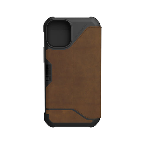 "Get the latest iPhone 12 Mini (5.4"") Metropolis Card Folio Case From UAG - Leather Brown Online local Australia stock."