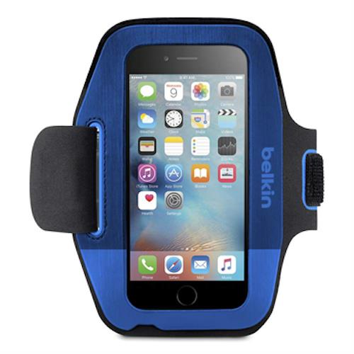 New Belkin Sport-fit premium Armband For Iphone 6s/6 blue. With breatable material australia