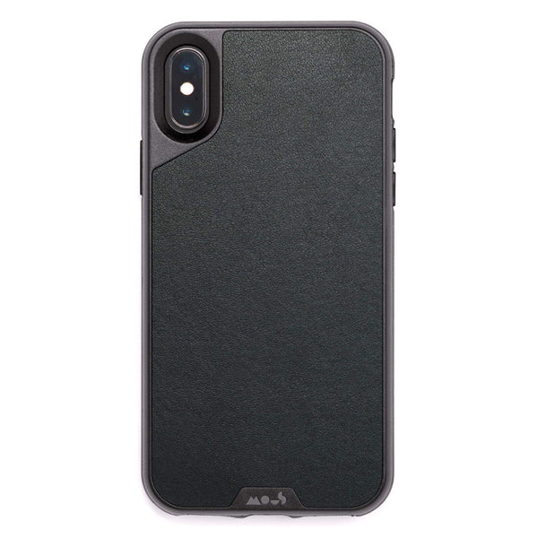 show off your trendy iPhone Xs & iPhone X with this mous case with premium natural leather black