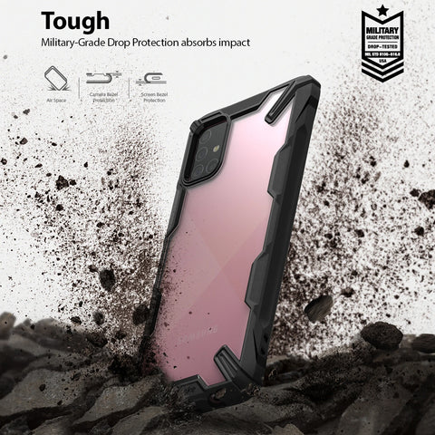 Ringke Fusion X Rugged Case For Galaxy A71 - Black