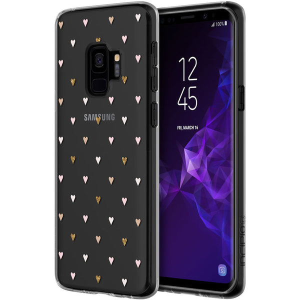 INCIPIO DESIGN CLEAR SCRATCH RESISTANT CASE FOR GALAXY S9 - TINY HEARTS