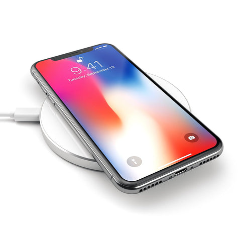 SATECHI ALUMINUM WIRELESS FAST CHARGING PAD - SILVER