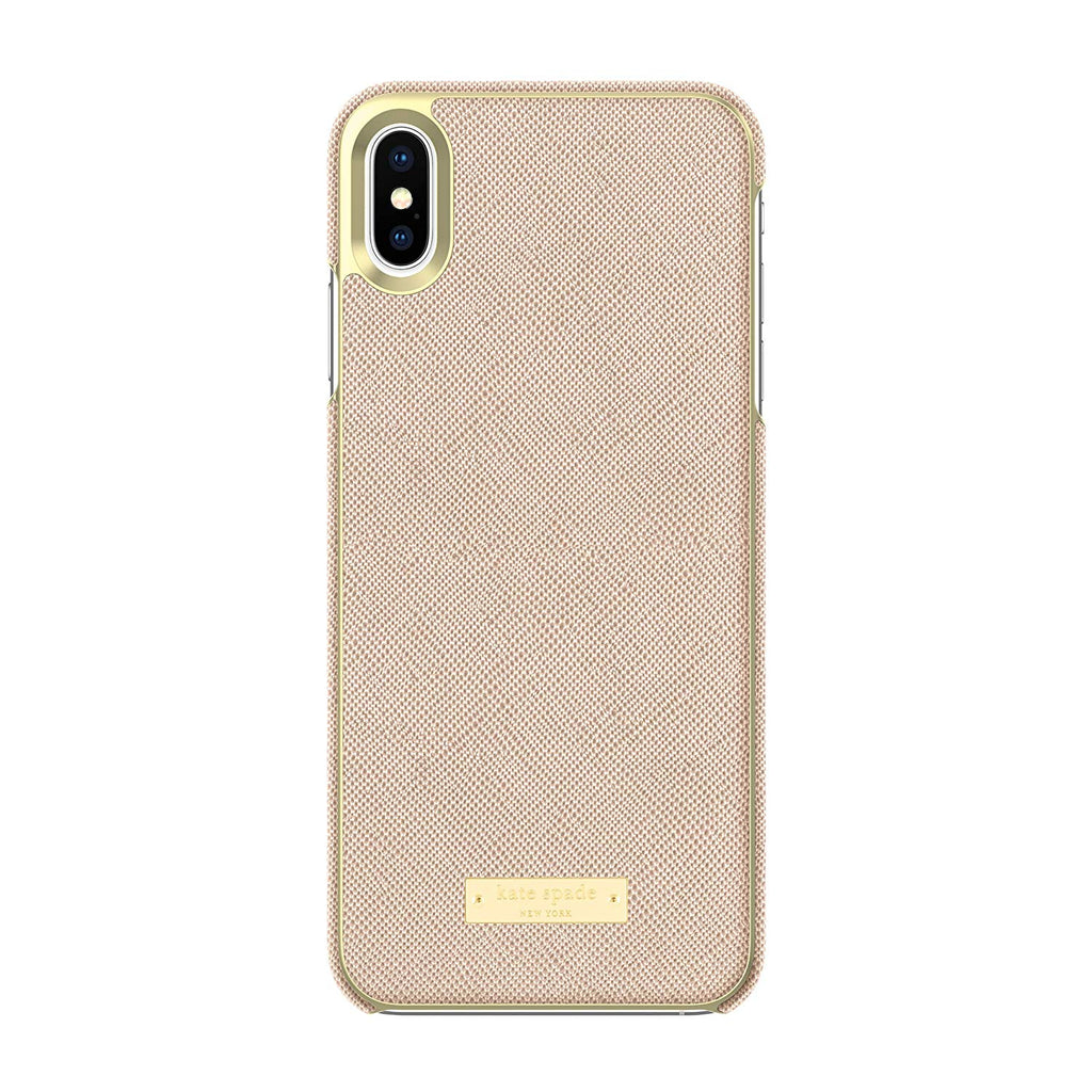 KATE SPADE NEW YORK WRAP CASE FOR IPHONE XS MAX - SAFFIANO ROSE GOLD Australia Stock