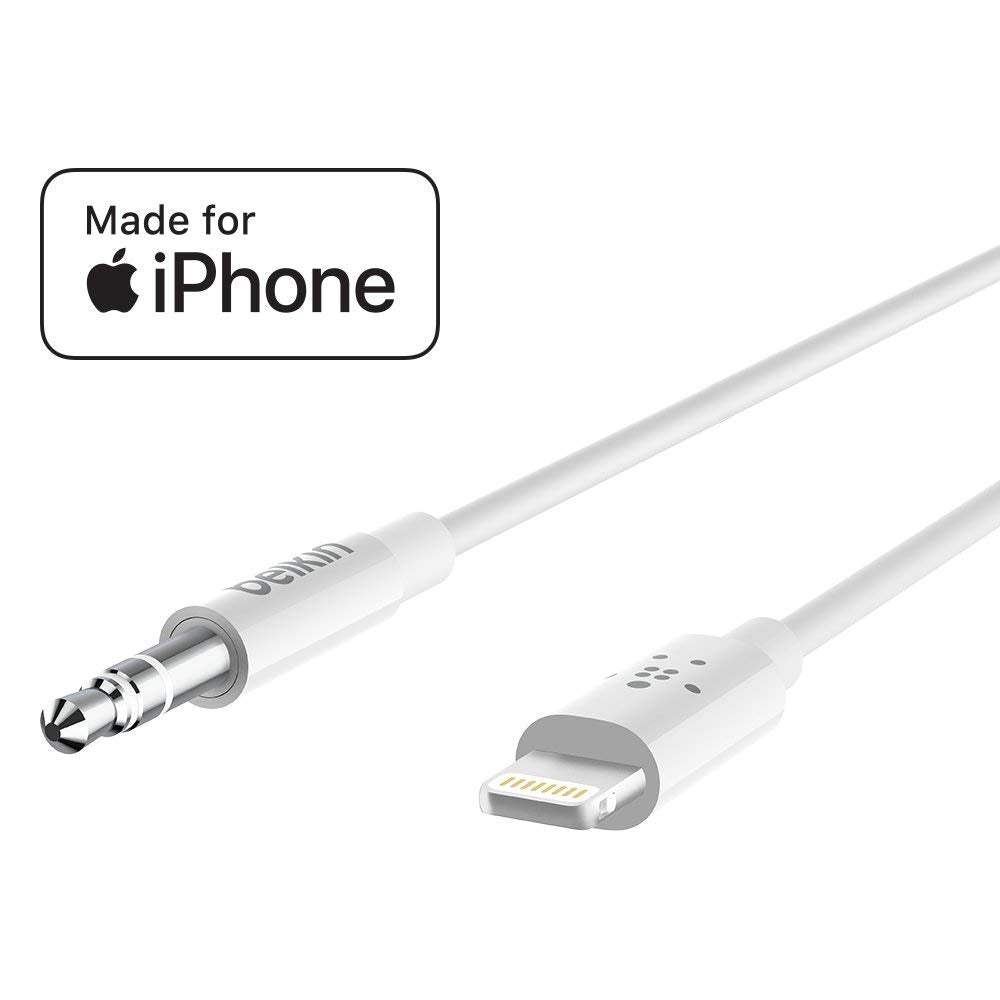 Shop Australia stock BELKIN 3.5MM AUDIO CABLE WITH LIGHTNING CONNECTOR (1.8M) - WHITE with free shipping online. Shop Belkin collections with afterpay Australia Stock