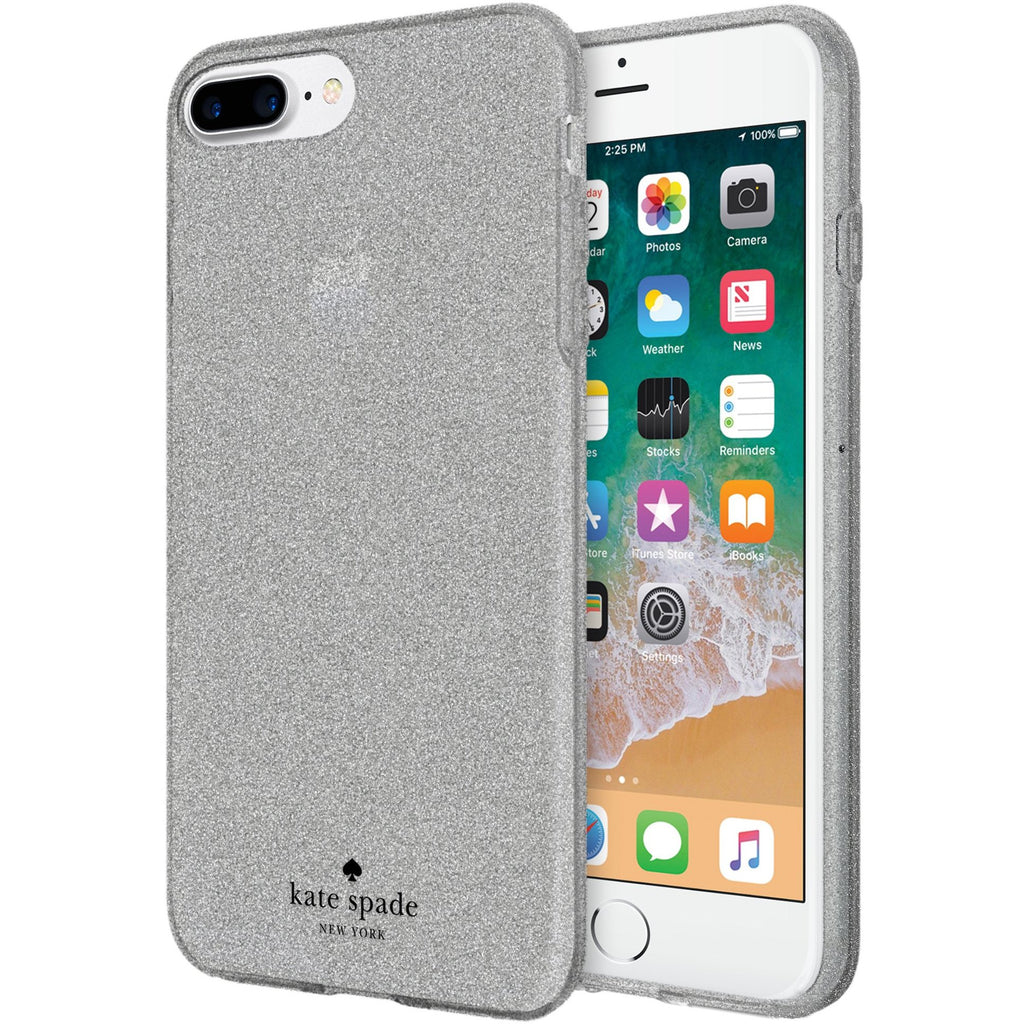 fancy glitter case from authorized distributor free express shipping australia for kate spade new york flexible glitter case for iphone 8 plus/7 plus - silver. Australia Stock