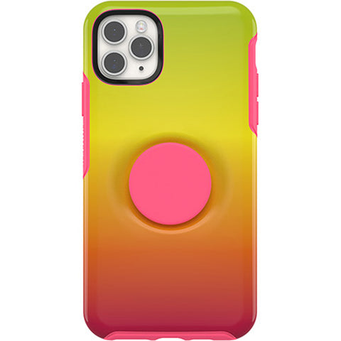 iphone 11 pro max designer case with socket and stand from otterbox pink colour