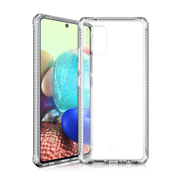 order now clear case from itskins australia for samsung a71 5g rugged case with free shipping australia wide