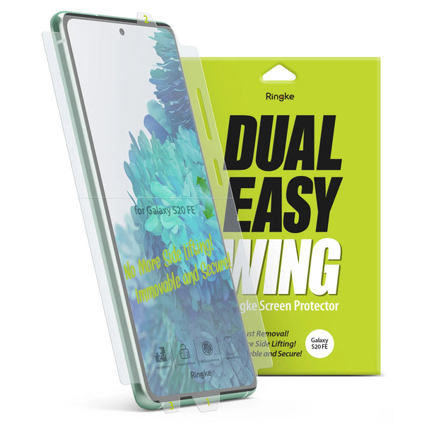 best screen protector for galaxy S20 FE 5G with dual easy film screen, buy online only at syntricate and get free express shipping australia wide