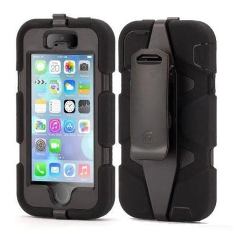 GRIFFIN SURVIVOR ALL-TERRAIN RUGGED CASE  FOR IPHONE SE/5S/5 - BLACK