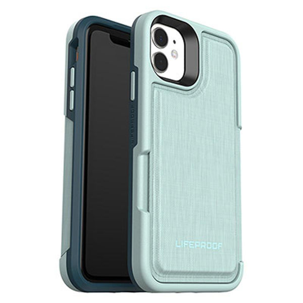 cyan iphone 11 stylish green color with extra 3 cards storage case