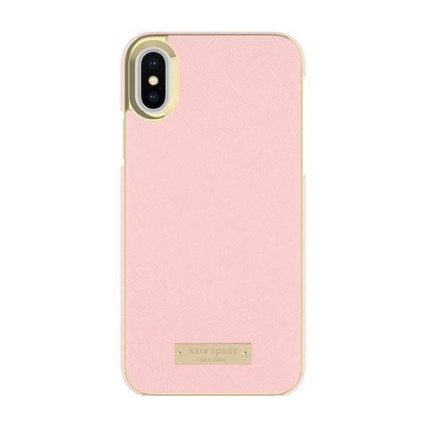 KATE SPADE NEW YORK WRAP CASE FOR IPHONE XS/X - SAFFIANO ROSE QUARTZ