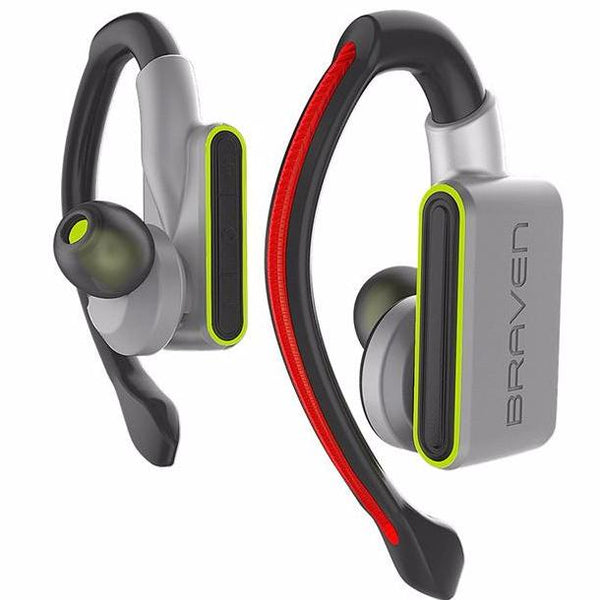 buy authentic BRAVEN FLYE SPORT GLO TRUE WIRELESS BLUETOOTH EARBUDS - SILVER/GREEN australia