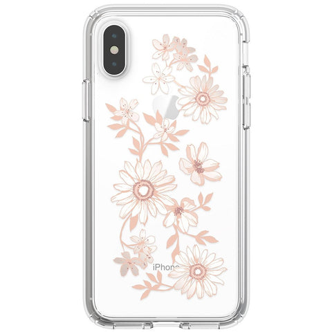 flower pattern clear case for iPhone Xs & iPhone X with free shipping