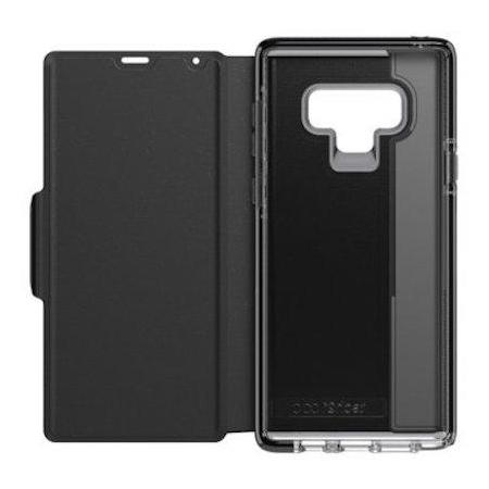leather folio case with card storage for samsung galaxy note 9 from tech21 Australia Stock
