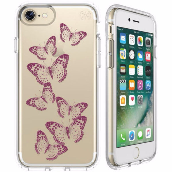 buy speck presidio clear print impactium case for iphone 7 butterflies rose gold australia
