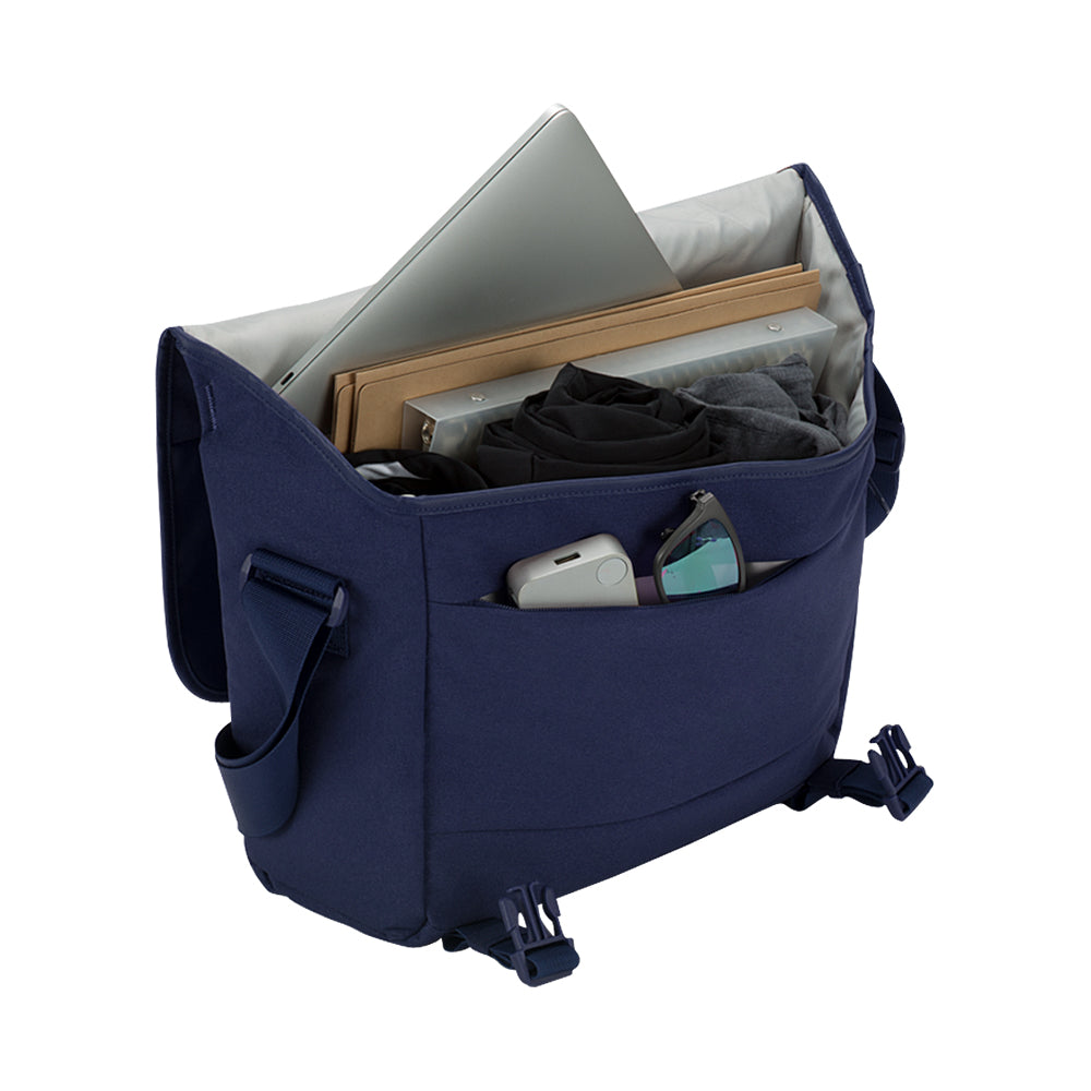 get your genuine incase compass messenger bag for macbook upto 15 inch navy blue color Australia Stock