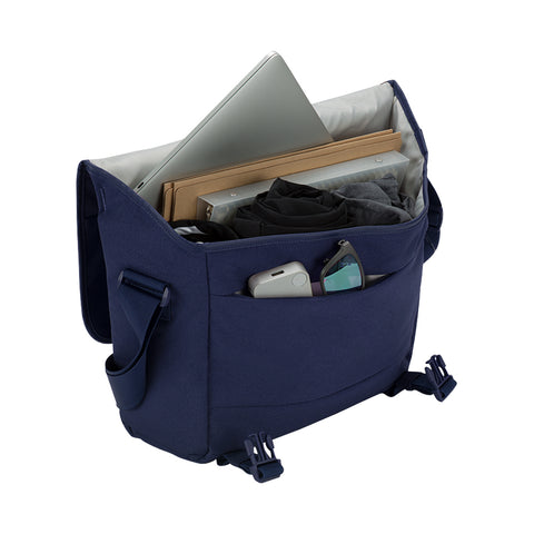 get your genuine incase compass messenger bag for macbook upto 15 inch navy blue color