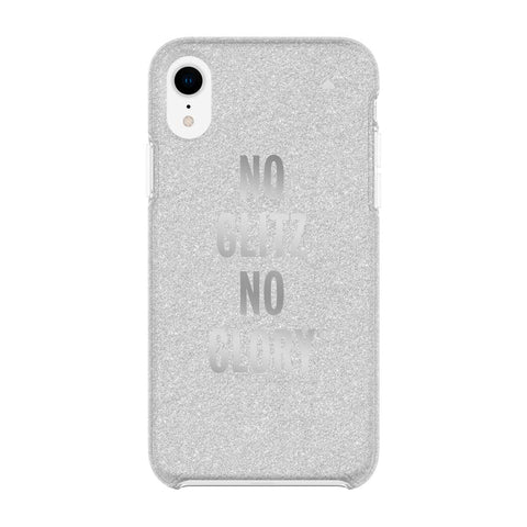 Shop Australia stock KATE SPADE NEW YORK PROTECTIVE HARDSHELL CASE FOR IPHONE XR - NO GLITZ NO GLORY SILVER GLITTER/FOIL with free shipping online. Shop Kate Spade New York collections with afterpay