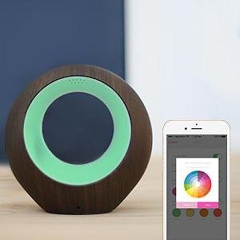 iBABY AIRSENSE SMART AIR QUALITY MONITOR & IONIC PURIFIER - DARK BROWN