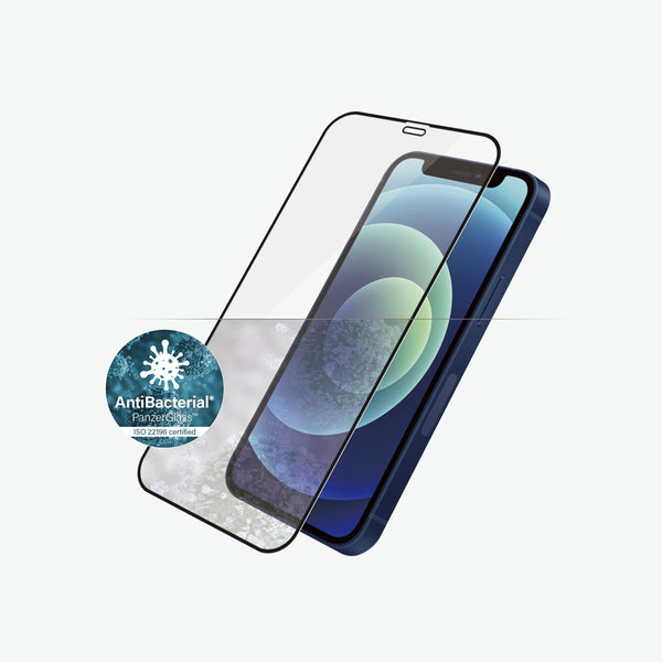 Anti bacterial screen protector for iPhone 12 mini. with drop protection certified from panzerglass australia. The most advance tempered glass available for iphone 12 mini
