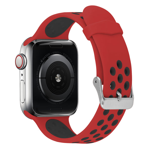 FLEXII GRAVITY Sport Silicone Band for Apple Watch Series 5/4/3/2 (44/42MM) - Red/Black