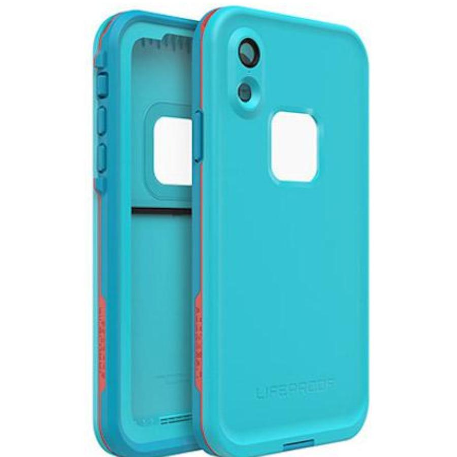 front back side of iphone xr case blue colour Australia Stock