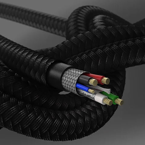 The cable made with bride nylon and proven quality that is ultra-rugged and super tough for remarkable strength and longevity. Shop online at syntricate.