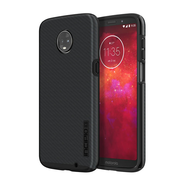 Incipio Dualpro Shine Case For Moto Z3/Z3 Play - Carbon Fiber