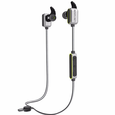 BRAVEN FLYE SPORT REFLECT WIRELESS WATER-RESISTANT EARBUDS - SILVER/GREEN