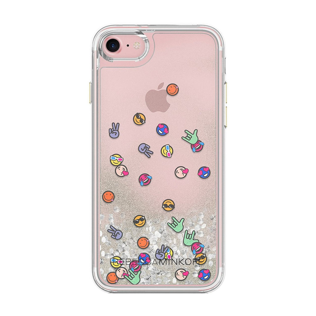 Shop Australia stock Rebecca Minkoff Glitterfall Designer Protective Case for iPhone 8/7 - Emojis with free shipping online. Shop Rebecca Minkoff collections with afterpay Australia Stock