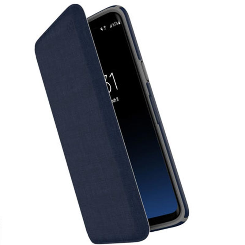 Speck Presidio Impactium Folio Case For Galaxy S9 Heathered Blue/grey Australia Stock