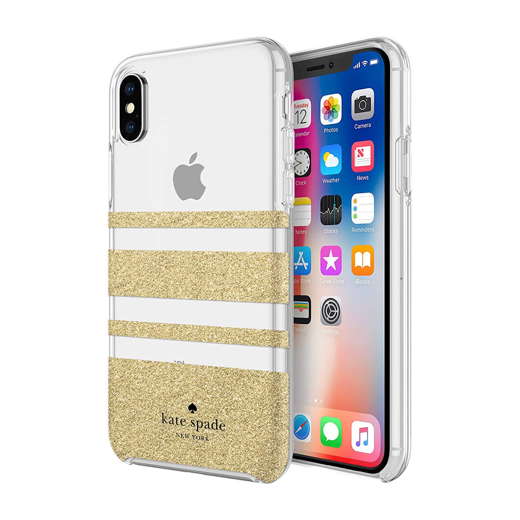 Shop Australia stock KATE SPADE NEW YORK PROTECTIVE HARDSHELL CASE FOR IPHONE XS MAX - STRIPE GOLD GLITTER with free shipping online. Shop Kate Spade New York collections with afterpay Australia Stock