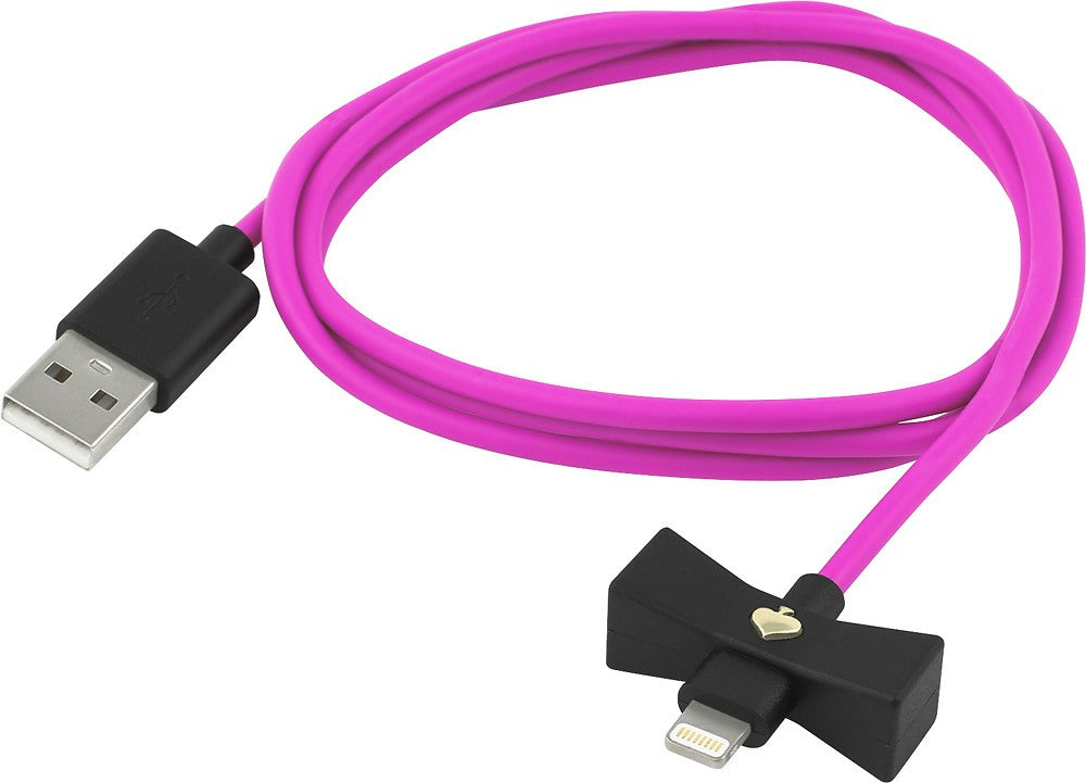 Kate Spade New York Bow Charge / Sync Lightning Cable 1 meter - Black Snapdragon Bow/Vivid Cable Australia Stock