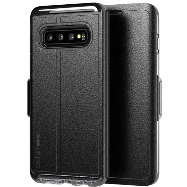 TECH21 EVO WALLET CARD FOLIO CASE FOR GALAXY S10 PLUS (6.4-INCH)- BLACK