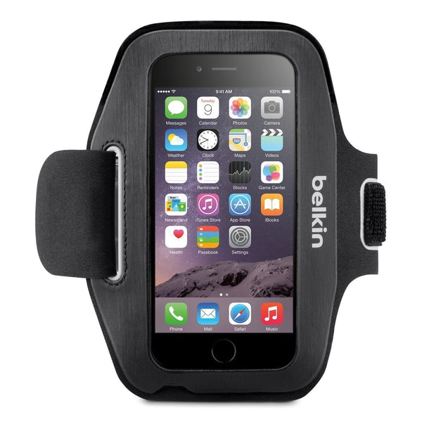 belkin sport-fit armband for iphone 6s/6 - black colour syntricate australia the most trusted online store