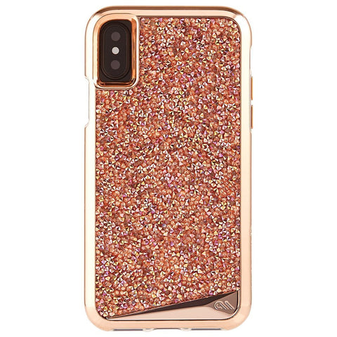 CASEMATE BRILLIANCE TOUGH GENUINE CRYSTAL CASE FOR iPHONE X - ROSE GOLD