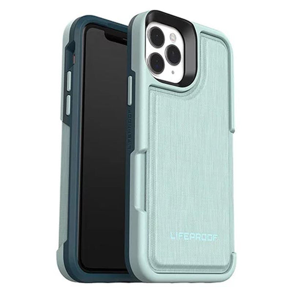 lifeproof flip folio wallet case for new iphone 11 pro max. Green tone with card storage