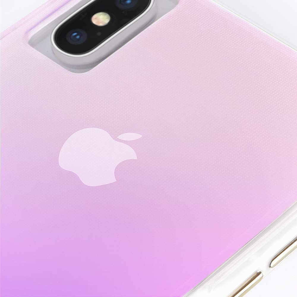 Transparent pink case from Casemate Australia for iPhone Xs & iPhone X Australia Stock