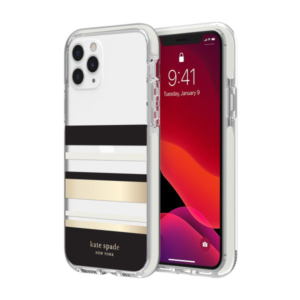 clear case with gold stripes for iphone 11 pro max. buy online at syntricate and get free shipping australia wide