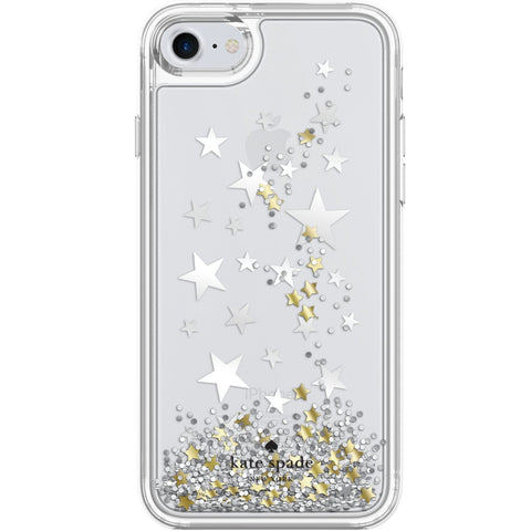 KATE SPADE NEW YORK LIQUID GLITTER CASE FOR IPHONE 8/7 - STARS/GOLD/SILVER