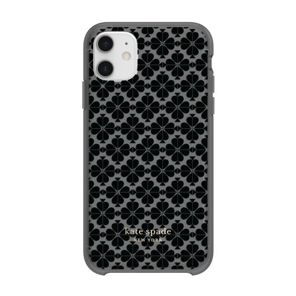 back view of kate spade iphone 11 case with grey pattern for professional girly look. Australia Stock