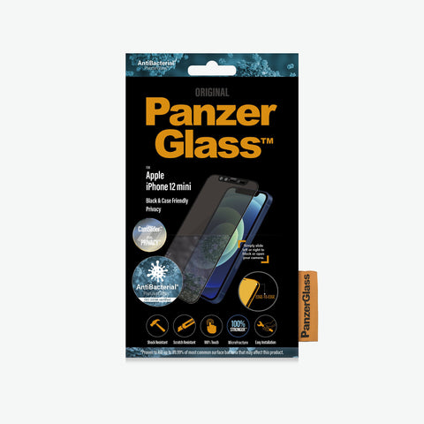 apple iphone 12 mini tempered glass with shock and scratch resistant from panzerglass