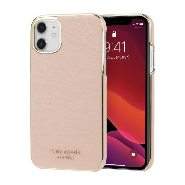 Combination Pink and gold bumper case for new iphone 11, Authentic saffiano leather from kate spade new york