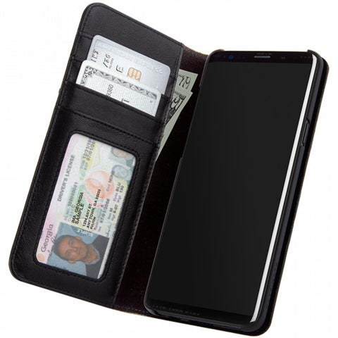 CASEMATE WALLET LEATHER CARD FOLIO CASE FOR GALAXY S9 - BLACK