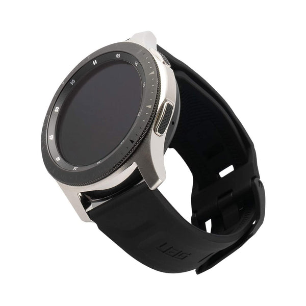 samsung galaxy watch 42mm/20mm rubber band strap black colour. buy online with afterpay payment
