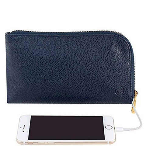 Chic Buds Clutchette Power Portable Charger Charging Purse for Universal - Navy