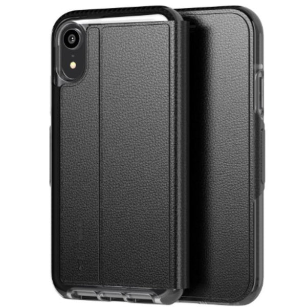 wallet folio case for iphone xr black colour from tech21 australia. get the latest stock with free shipping.