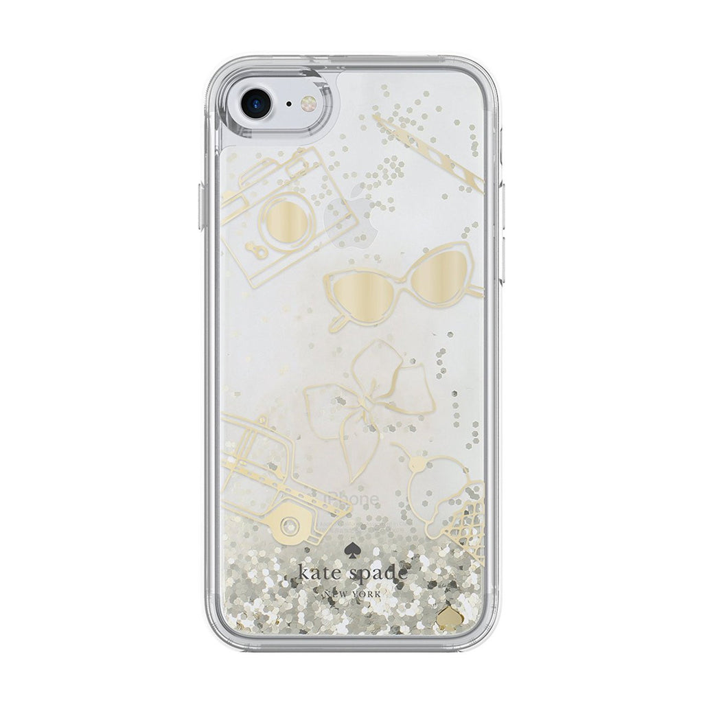 Kate Spade New York Clear Liquid Glitter Case for iPhone 8/7 - Gold / Favorite Things Australia Stock